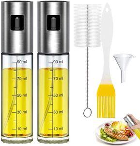 Öl Sprayer Zerstäuber 3 in 1 Ölsprüher Ölspender Bürste Trichter Cooking Spray Öl Zerstäuber Cooking Spray