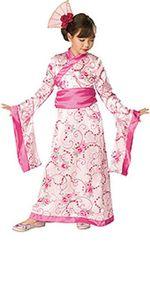 Asiatische Prinzessin Kostüm - Kind, Größe:S