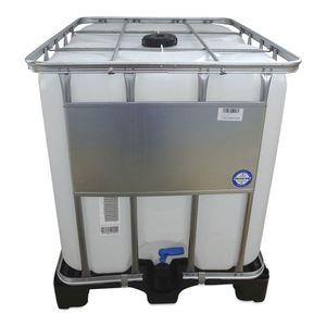 1000 L 1000 Liter IBC Container Regenwassertank Tank natur Kunststoffpalette