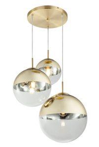 Globo Lighting VARUS Hängeleuchte Metall goldfarben, 3xE27, 15855-3