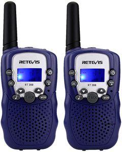 2X Retevis RT388 Walkie Talkie, Kinder Funkgerät 8 Kanäle mit VOX Taschenlampe, Spielzeug ab 3-12 Jahre, beste Weihnachtsgeschenk für Kinder, Jungen, Mädchen (1 Paar, Dunkelblau)