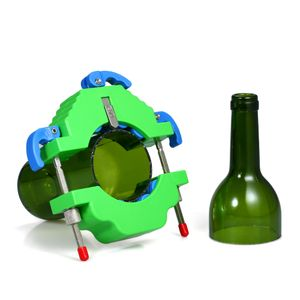 Glas flaschenschneider diy flasche schneidwerkzeug für wein bier champagner flaschen lampenschirm blumentopf vasen machen[Grün]