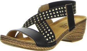 Vista Damen Sandaletten schwarz, Größe:40, Farbe:Schwarz