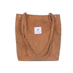 Frauen Umhaengetaschen Cord Totes Vintage Holiday Beach Wiederverwendbare Einkaufstaschen Studenten Reisen Casual Umhängetaschen Handtasche【braun】