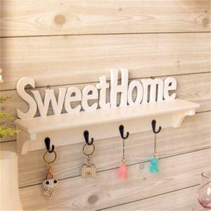 Wandhalter Sweet Home Style 4 Haken Storage Organizer Regal Nachbildung Rack