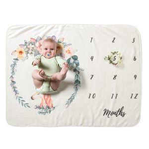 Baby-Monatsmeilenstein-Decke für Mädchen-Jungen-Blumenflügel gestalten neugeborenen Foto-Stützen-Hintergrund-super weichen Flanell 28 * 40in