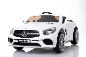 Mercedes Benz Sl65 Amg Kinder Elektro Auto Fahrzeug Kinderauto Mp3 Aux Usb, Farbe:weiß