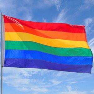 Leichte leichte Flagge 3x5ft LGBT Regenbogen Flagge Flagge