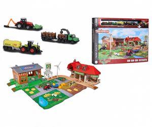 majoRETTE Spielzeug-Bauernhof mit 5 Druckguss-Fahrzeugen Creatix