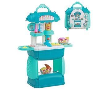 Supermarkt Kinder Einkaufswagen Spielzeug Registrierkasse Kaufläden Kinderspielzeug