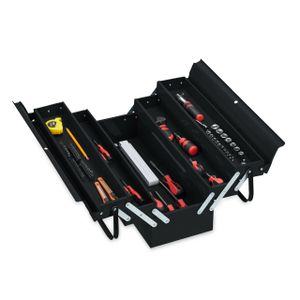 relaxdays Werkzeugkoffer leer schwarz