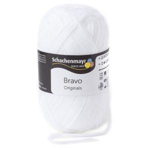 Schachenmayr Bravo, 9801211-08224, Farbe:Weiß, Handstrickgarne