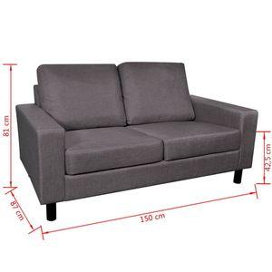 Schlafsofa Sofa 2-Sitzer Schlafcouch mit Schlaffunktion 150 x 87 x 81 cm Dunkelgrau