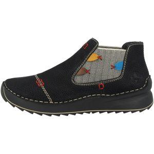 Rieker Damen Stiefeletten Chelsea Boots 51592-00, Größe:39 EU, Farbe:Schwarz