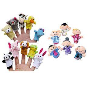 16PC Fingerpuppen Tiere Menschen Familienmitglieder Lernspielzeug NGH50407104A