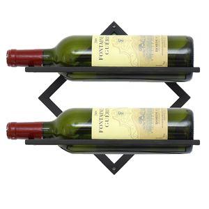 Bobing Weinregal Eisen Wand erweiterbar Flaschenregal Schwarz Flaschenständer - Flaschenstil