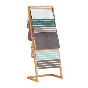 relaxdays Handtuchhalter Bambus freistehend