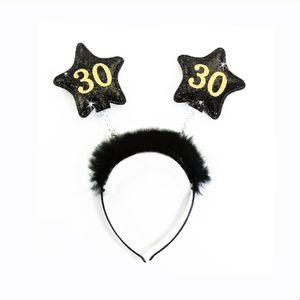 Oblique Unique Haarreif Haarreifen 30. Geburtstag Birthday Party - schwarz