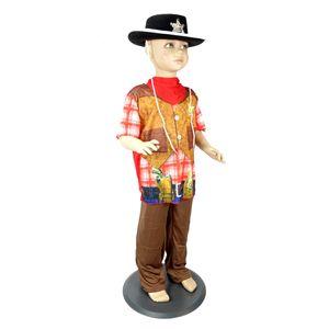 Verkleidung COWBOY KOSTÜM KINDER  Jungen Karneval  Gr. M: 122 bis 128/134 (7-10 Jahre )