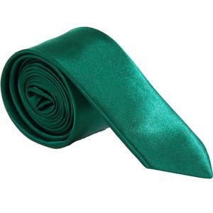 Edel Krawatten Schmal Unifarben  Grün
