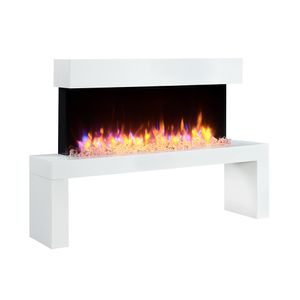 RICHEN Elektrokamin Kiana (1-2 kW Heizleistung, LED-Beleuchtung, 3D-Flammeneffekt inkl. Fernbedienung) Wandkamin weiß …