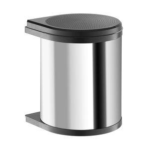 Einbau-Abfallsammler MONO 40/1 15 L, Edelstahl/Deckel schwarz 290x304x365mm