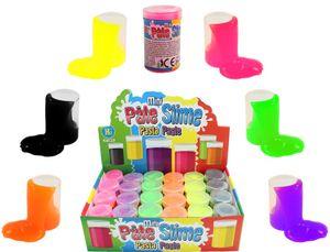 6er Set Slime Schleim in Dose je ca. 5,2x3,5 cm Slimytonne, 6 aus 6 Farben, Mini-Pasta-Pate Slime