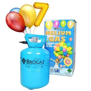 Helium Balloon Gas – (7L) für ca. 30 Luftballons, Heliumflasche, Folienballons,Latexballons, leicht zu befüllendes Ballongas, ideal für Kindergeburtstage