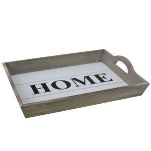 Serviertablett Frühstückstablett Holztablett Küchen Tablett Servierplatte Braun