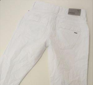 COCCARA Curly modische, leichte Damen Slim Fit Jeans in Weiß, Stretch,