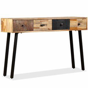 Konsolentisch Beistelltisch Sideboard Moderne-Design Recyceltes Teak Massiv 120 x 30 x 76 cm