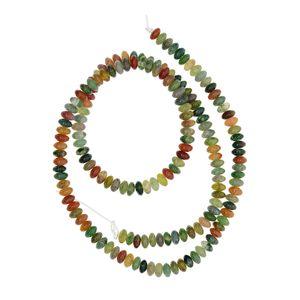 1 Strang natürliche Edelsteinperlen Farbe Indischer Achat-Edelstein