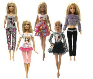 5 Modekleidung für Barbie Röcke, Hosen, Hemden und Pullover