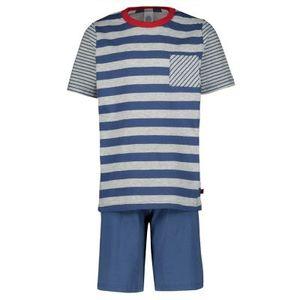 Sanetta Jungen Schlafanzug Set - kurz, Kinder, 2-tlg., Streifen Blau 128