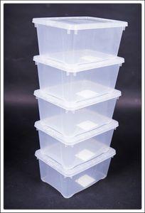5er Set Klarsichtbox 33x20x11 cm # 5 STÜCK # - mittel 408553