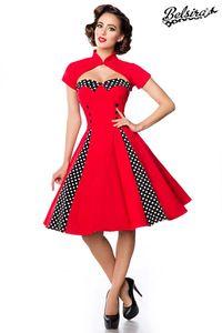 Belsira Vintage-Kleid mit Bolero - rot/schwarz/weiß, Größe:XXS