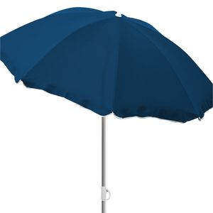 Sonnenschirm rund Ø1,80m Dunkelblau Polyester knickbar UV Schutz