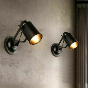 1x Retro Vintage Wandspot Wandleuchte Wand Lampe Leuchte Loft Antik-Stil Industrie Licht