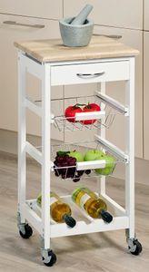 Kesper Küchenwagen mit Schublade, weiß; 25814-13