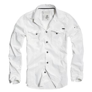 Brandit - SlimFit Shirt Weiß Hemd Outdoor Größe XL