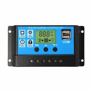 30A 12/24V LCD Solar Regler Batterie Regulator Controller Dual USB
