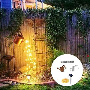 Wasserfall Form Twinkle Lichterketten, Solar LED-Lichterkette mit Gießkanne und Ständer, Stern Typ Dusche Garten Kunst Licht Dekoration für für Outdoor, Yard Garden Path Lamp Lights Gartenarbeit Rasenlampe im Freien