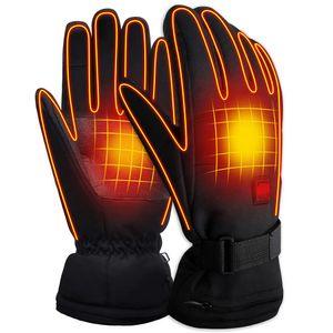 Drei-Gang-Thermostat Heizhandschuhe elektrische Heizhandschuhe Heizhandschuhe Winterwaerme schwarz