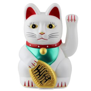 Glückskatze - Maneki-neko - Winkekatze - 13cm - weiß