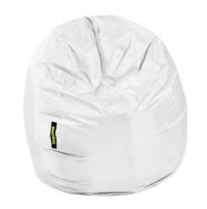 Pushbag - Sitzsack Bag 300 - Bezug Oxford in Weiß - 70cm