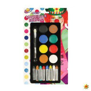 schminkset Schminke Aquarell 8 Farben 17-teilig