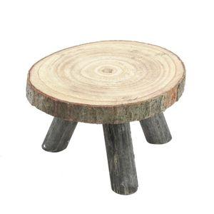 Baumscheiben Blumenhocker mit 3 Holzbeinen - Modell: 18 cm (klein)