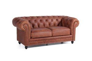 Max Winzer Orleans Sofa 2-Sitzer - Farbe: cognac - Maße: 196 cm x 100 cm x 77 cm; 2911-2100-9370036-F07
