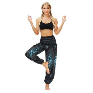 Frauen Casual Loose Yoga Hose Baggy Casual Bloomers Haremshose Größe:Einheitsgröße,Farbe:Blau