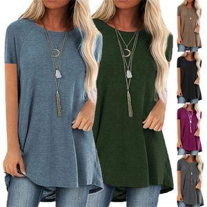 Kurzes Sommer-T-Shirt mit lockerem Oberteil für Damen,Farbe: grau,Größe:XL,Farbe: grau,Größe:XL